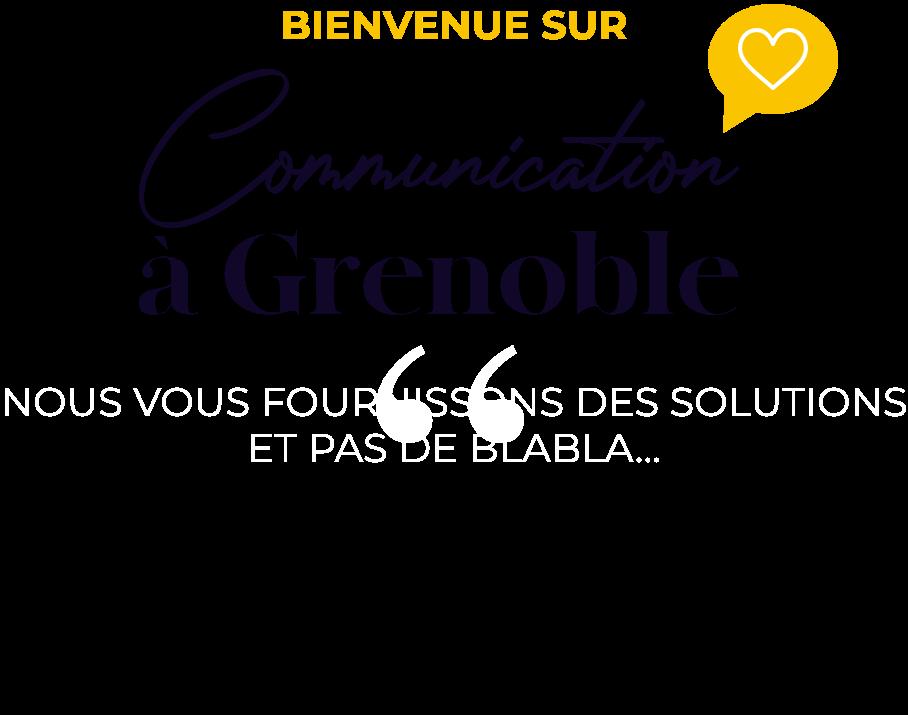 Communication à Grenoble - Logo bienvenue